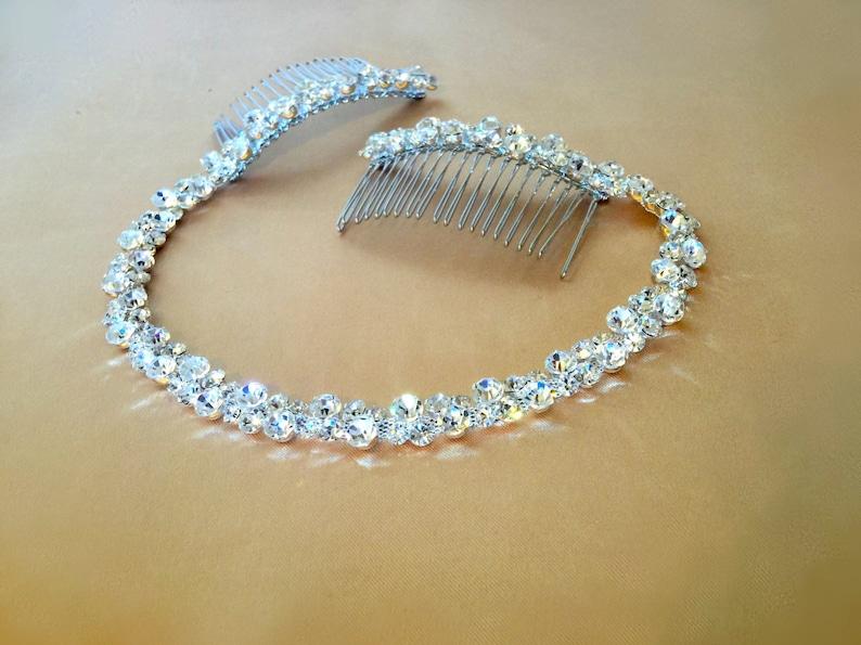 Rhinestone Bridal Headpiece Crystal Hair Tiara Bridal image 0