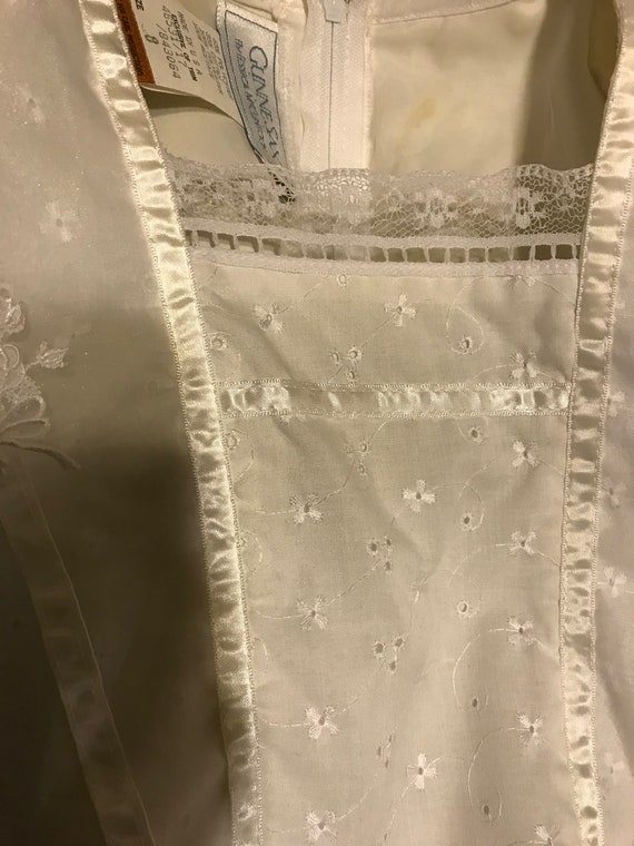 Gunne Sax Dress Girls size 8 white first communio… - image 8