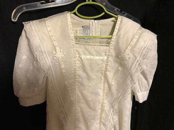 Gunne Sax Dress Girls size 8 white first communio… - image 3