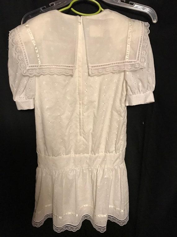 Gunne Sax Dress Girls size 8 white first communio… - image 7