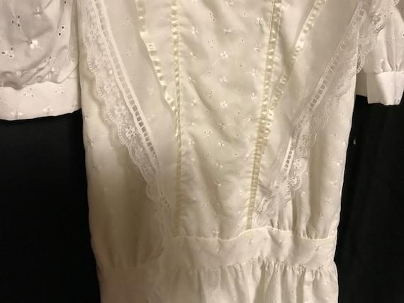 Gunne Sax Dress Girls size 8 white first communio… - image 4