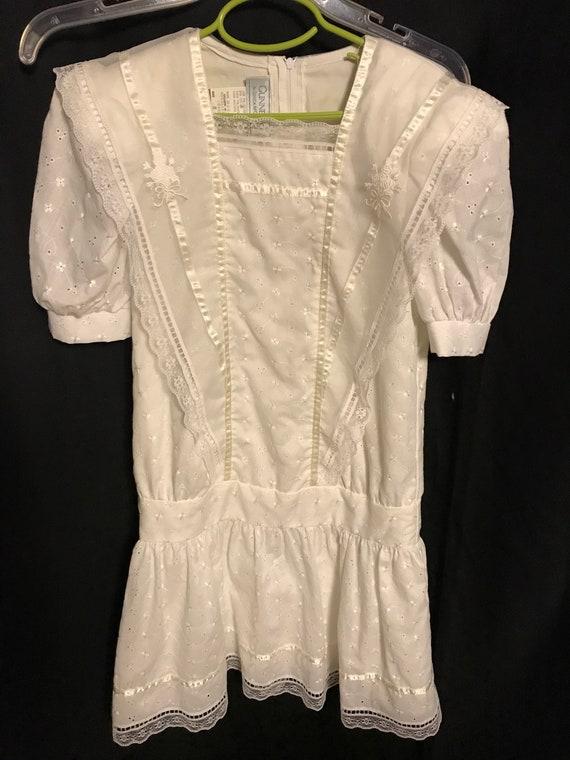 Gunne Sax Dress Girls size 8 white first communio… - image 1