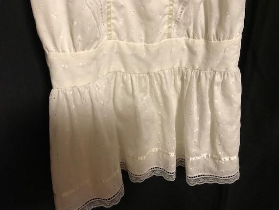 Gunne Sax Dress Girls size 8 white first communio… - image 5