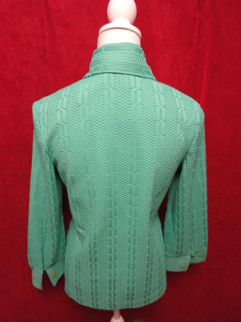 Vintage Bodin Knits Women/'s Shirt Blouse Green Abstract best guess size Medium Florida