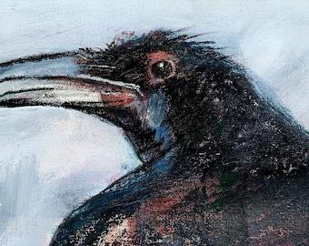 Raven Speaks high quality art print, giclee, wall art, raven art, archival art print