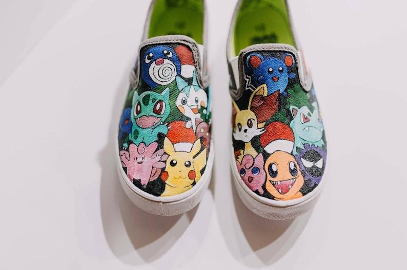 0f9af73b91507 Gotta Catch 'em all Custom shoes, Pokemon Master Custom Shoe, Free shipping