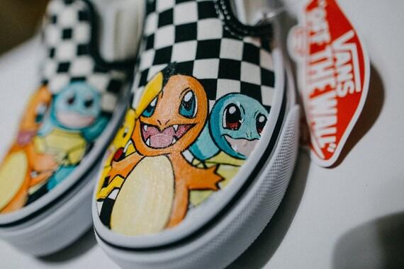 Originale scarpa Pokemon, originale Pokemon Scarpa Vans personalizzati, spedizione gratuita