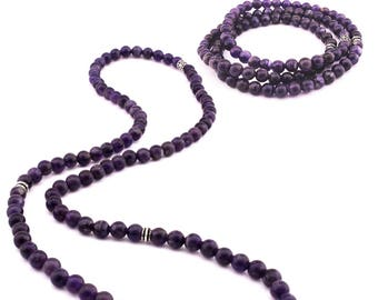Anglican Prayer Beads 0418 Chaplet 8mm Amethyst Gemstone Beads Rosary