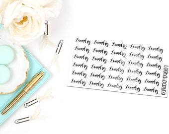 Laundry Hand Letter Planner Stickers