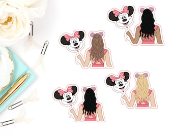 Mouse Ear Balloon Girl Die Cut Characters