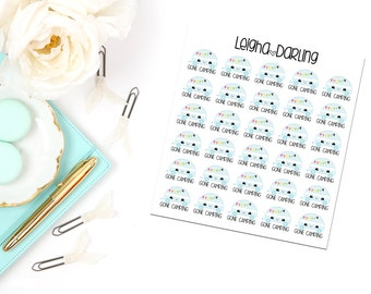 Kawaii RV/Camping Planner Stickers