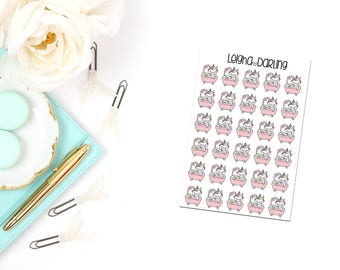 Bath Planner Stickers