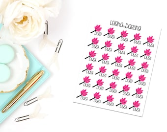 Kawaii Dusting Planner Stickers