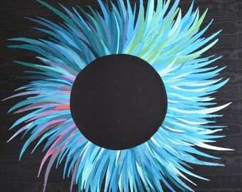 """Original Artwork: """"Blue Eclipse"""""""