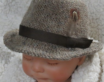 40a61a63982a2 Little Man Baby ChiId Tweed Fedora