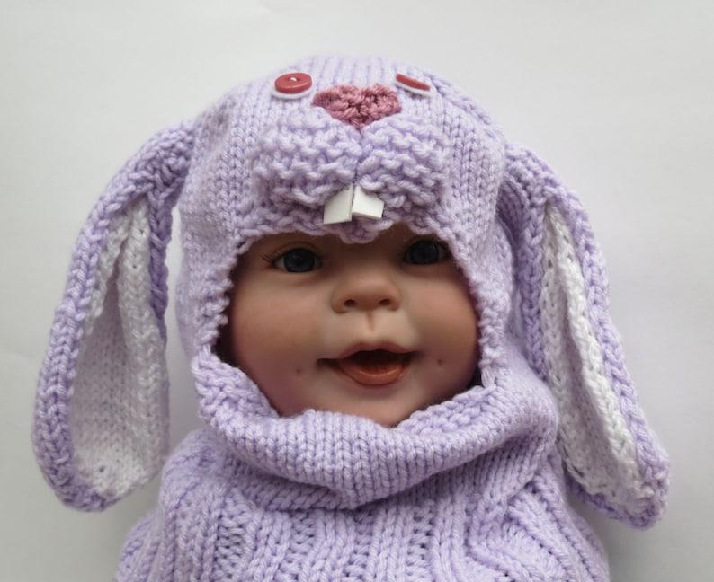 decaa82f76708 Bebé conejito gorro pasamontañas los niños sombrero del