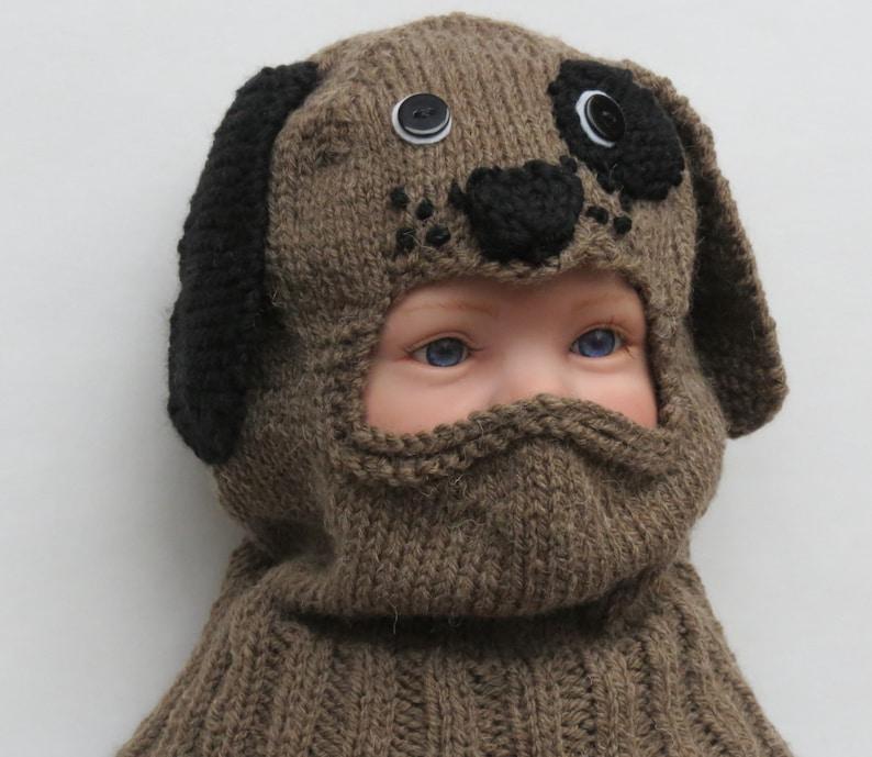 Baby Balaclava Brown Puppy Dog Hat Toddler Child Warm Hand ...