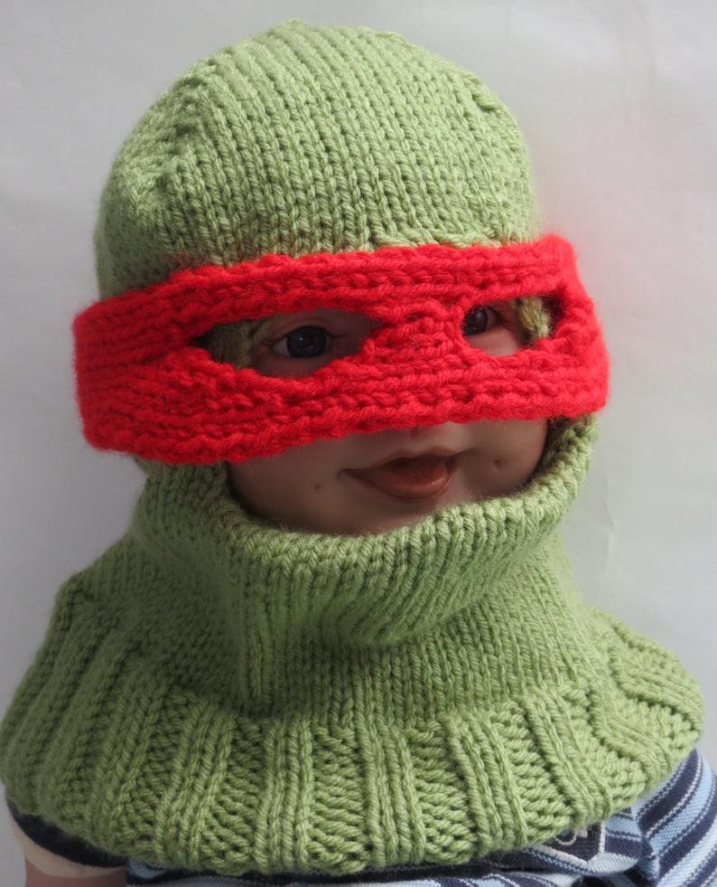 cbc793f21 TMNT Teenage Mutant Ninja Turtle Balaclava Child Winter Hat 2-6 years  Toddler mask