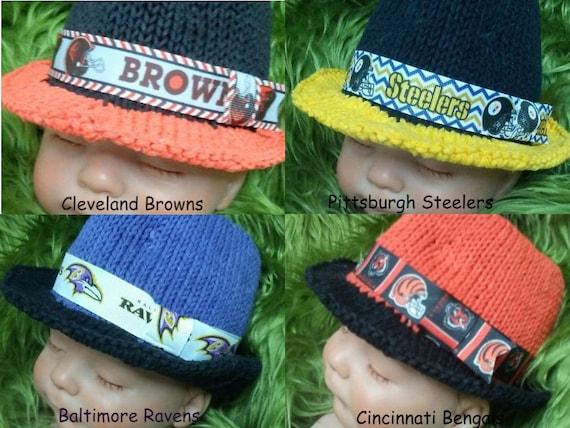 warm hat winter hat Cleveland Browns inspired   baby hat newborn photo prop football teams hat,baby  shower gift toddler hat