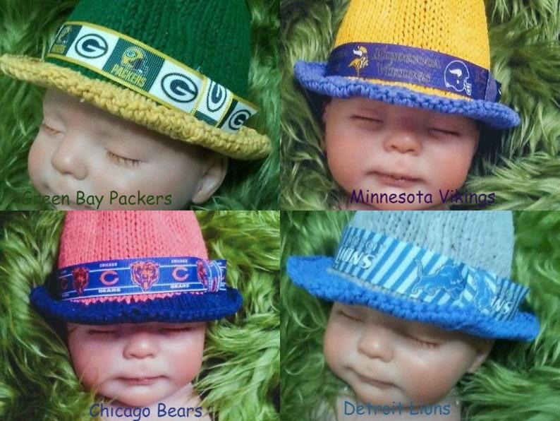 3315eea73a6 Baby Child Adult Football Team Hat Fedora NFC North Bears
