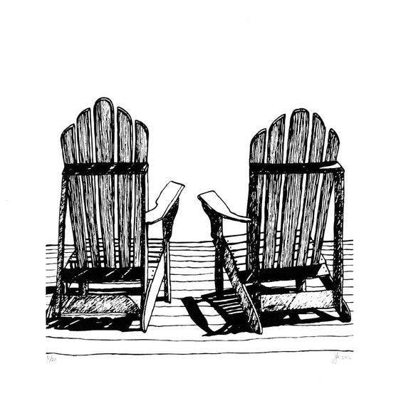 Adirondack Chair Screen Print
