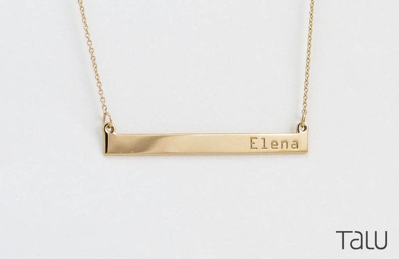 9f6d1049430 Bar Necklace, Personalized Gift, Name Necklace, Engraved Name Bar, Best  friends Gift, Bridesmaid Gift Idea, Coordinates, Custom, Engraving