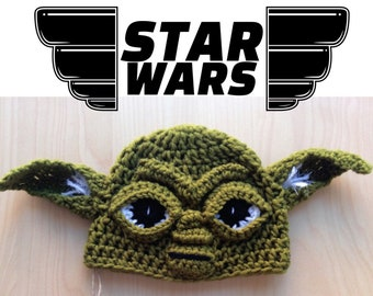8f30e99328935 Crochet Yoda Beanie For All Sizes (Newborn-Toddler-Adult)