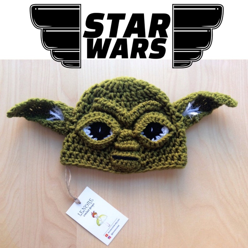 Crochet Yoda Beanie For All Sizes Newborn-Toddler-Adult  d0abddef627