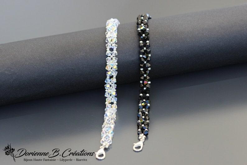 Swarovski Crystal bracelets for women. Silver carabiner clasp. image 0