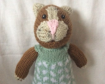 Hand knitted Girl Cat