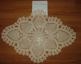 Hand Crocheted Double Pineapple Doily