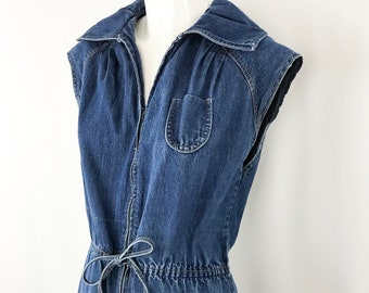9d9ea0226400 1970s Denim Jumpsuit