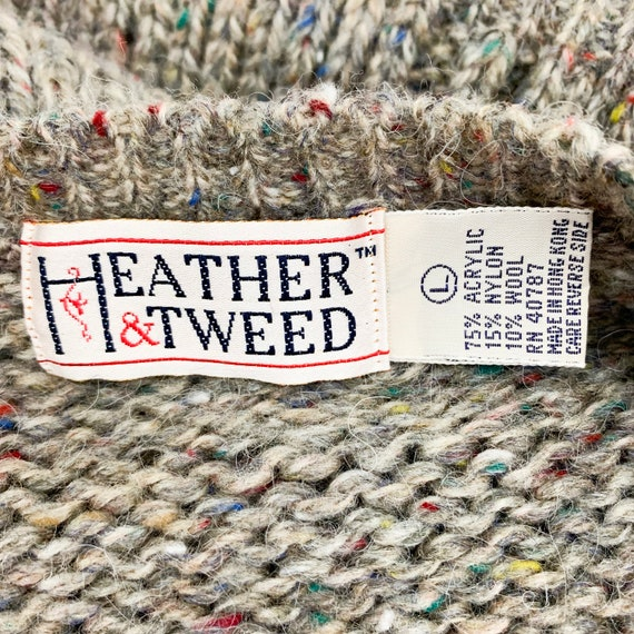Vintage Speckled Sweater Vest || Slouchy Knit Ves… - image 6