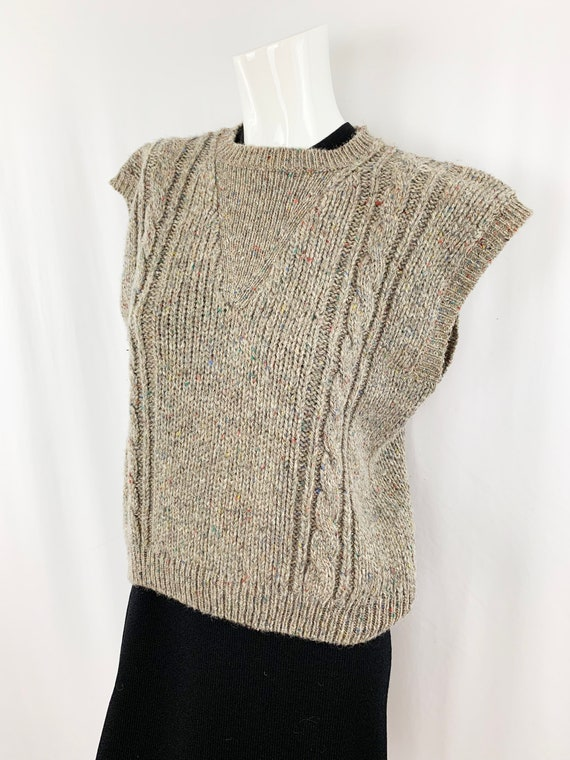 Vintage Speckled Sweater Vest || Slouchy Knit Ves… - image 4