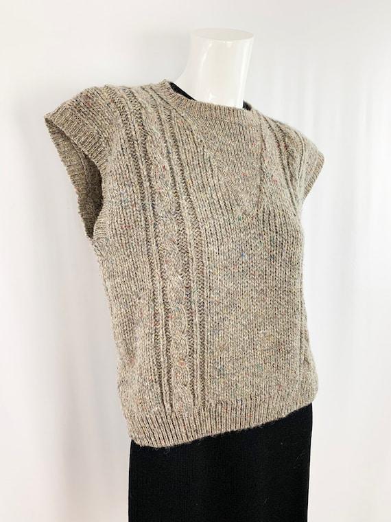 Vintage Speckled Sweater Vest || Slouchy Knit Ves… - image 3