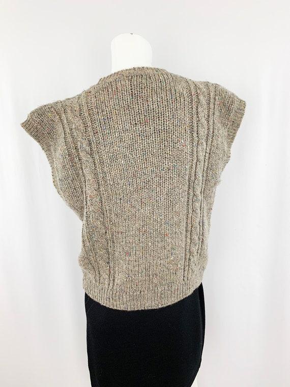 Vintage Speckled Sweater Vest || Slouchy Knit Ves… - image 5