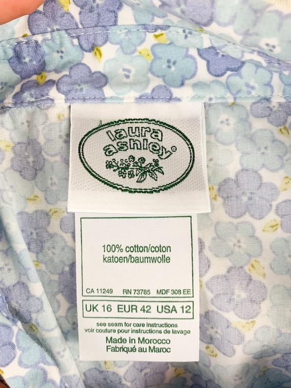 Vintage Laura Ashley Dress    90s Floral Cotton D… - image 6