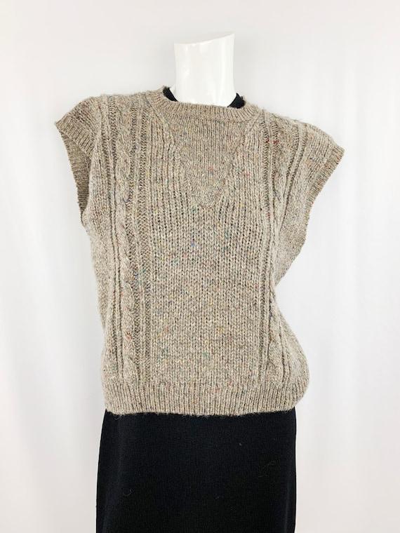 Vintage Speckled Sweater Vest || Slouchy Knit Ves… - image 1