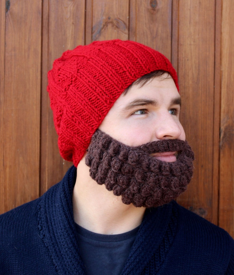 9535b814ea1 Christmas gift idea Mens and womens crochet beard and