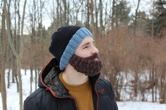 Crochet beard and hat Knitted face warmer Snowboard ski  ce921e9aaa07