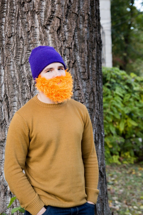 Mannen Snowboard Ski Masker En Muts Grappige Gebreide Baard Etsy