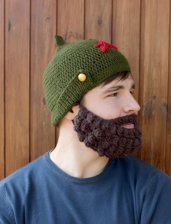 Bart und Hut häkeln Gestrickte Gesicht wärmer Snowboard | Etsy