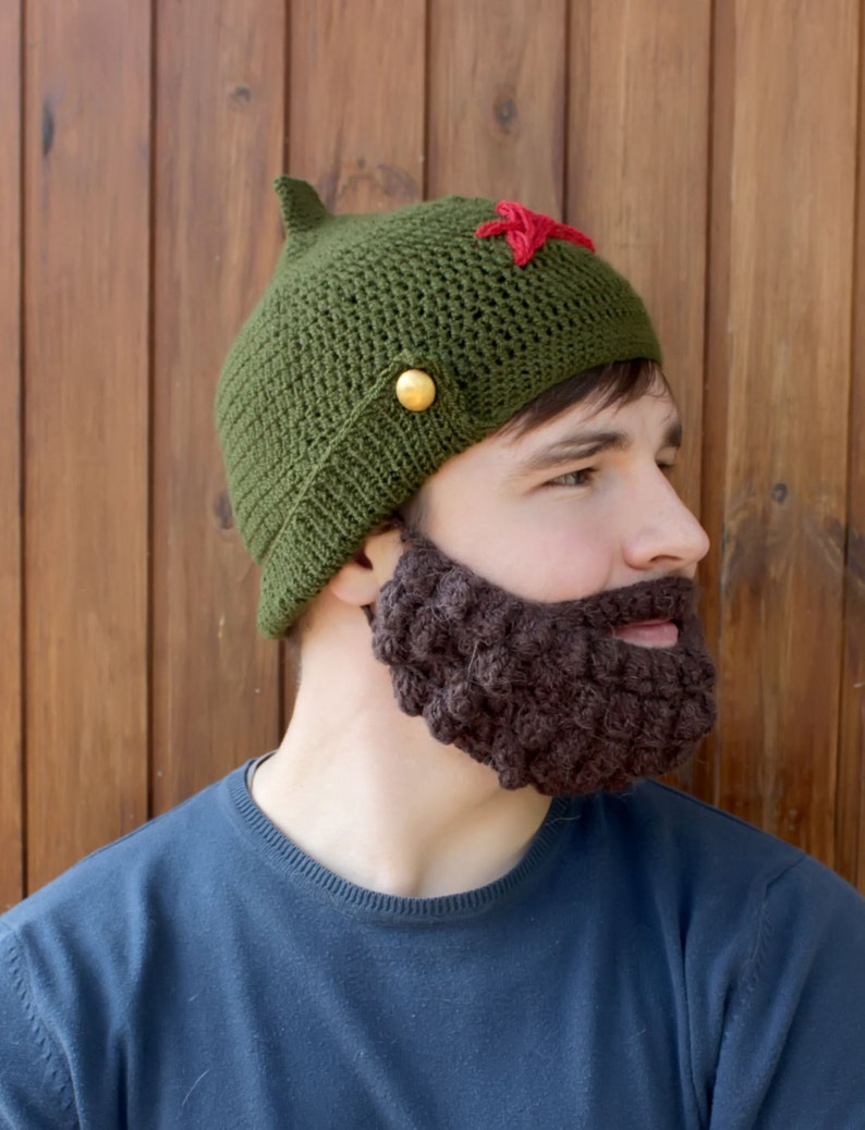Crochet beard and hat Knitted face warmer Snowboard ski mask and ... 3cc2c6eff373