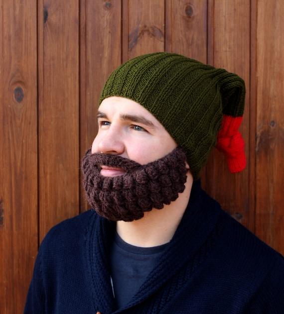 Barba y sombrero de ganchillo Punto más caliente de la cara