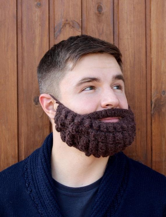 Bart und Hut häkeln Gestrickte Mütze Gesicht wärmer | Etsy