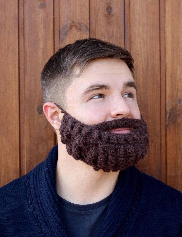 Bart und Hut häkeln Gestrickte Mütze Gesicht wärmer