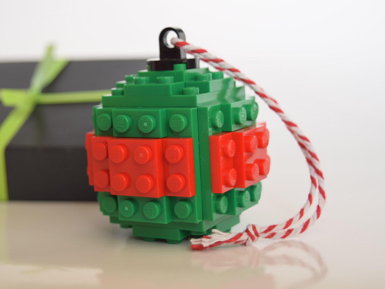 Christmas Tree LEGO Baubles Handmade With LEGO Bricks