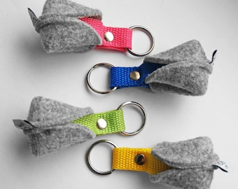 KEY CHAIN felt keychain pendant fortune cookie Key Ring various colours