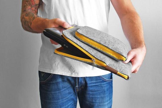 FELT LAPTOP COVER 01 macbook sleeve yellow zipper all sizes corner zipper macbook pro macboo air 15 inch laptop case