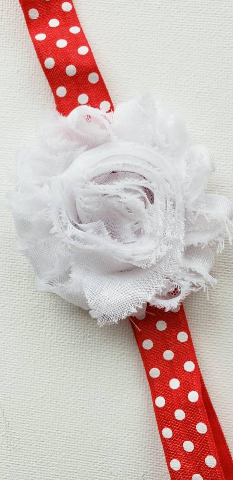 Cake Smash headband Disney birthday Independence Day toddler girl Red and white girls headband Fourth of July Baby First Birthday